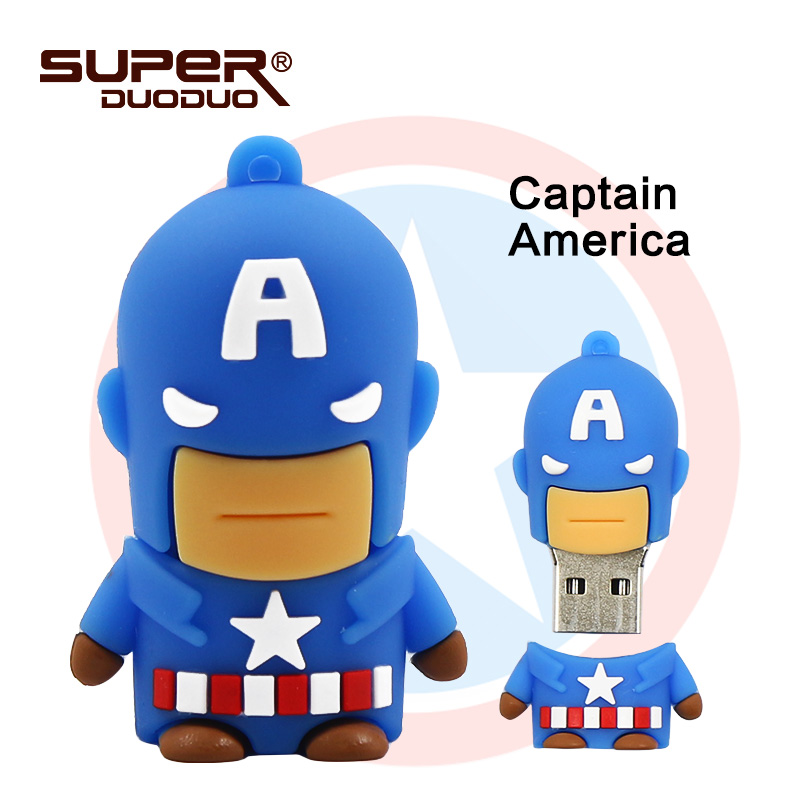 Image 4 - Superheros pendrive 4GB 8GB 16GB cheap Usb flash drive 32GB 64GB cartoon pen drive batman/spiderman/Captain America memoria usb-in USB Flash Drives from Computer & Office