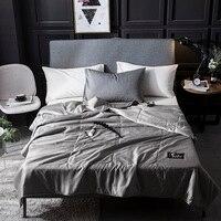 Шелковое покрывала для одеяла стеганое одеяло лето зима Король Королева Полный двойной размер пододеяльник, постельное белье набор чистог...