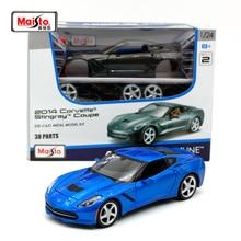 Maisto 1:24 2014 Chvrolet Corvettes STINGRAY Coupe Dark grey Assembly DIY Diecast Model Car Toy New In Box Free Shipping 39282 цены