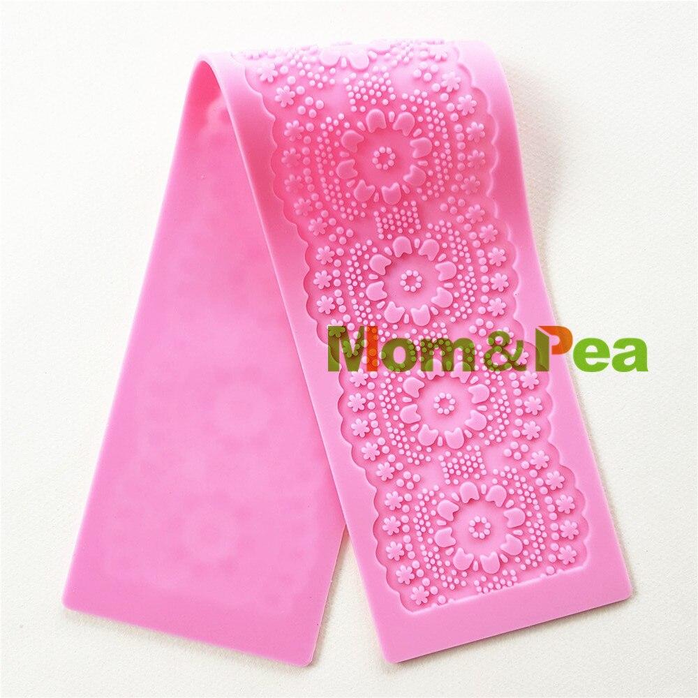 Бесплатная доставка, силиконовая кружевная форма Mom & Pea GX168, цветок большого размера, украшение для торта, 3D форма для торта с мастикой, форма ...