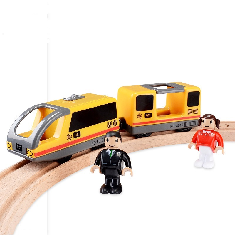Electric Magnetic Train Toys Compatible Thomas Train Wooden Track Electronic Locomotive Toy For Children Birthday Gifts