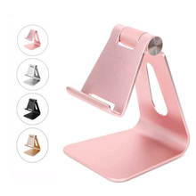 Aluminum Desktop Mobile Phone Holder Hand Free Desk Stand Cell Phone Mount For iPhone 5 5s 6 7plus iPad Samsung S6 S7 S8 Xiaomi