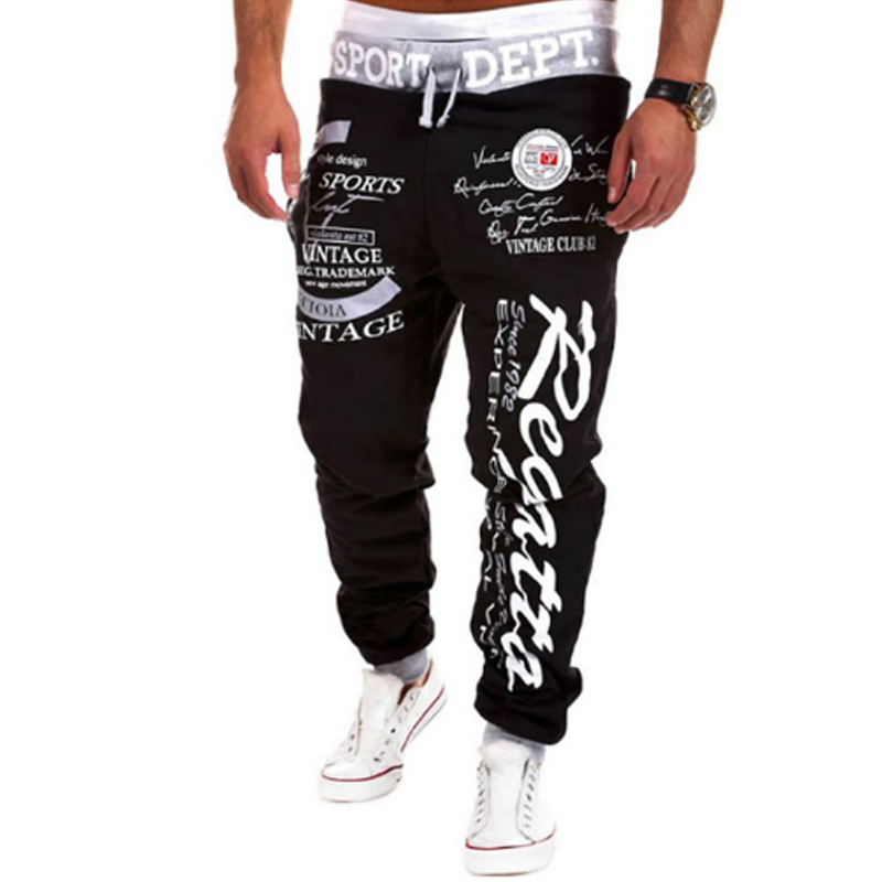 New Arrived 2018 Brand Casual Joggers Letter Printing Compression Pants Men Cotton Trous ...