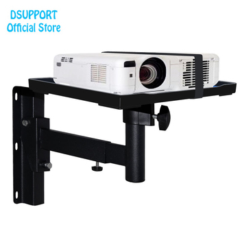 New arival Projector Wall Mount Full Motion Retractable Universal Hanger Bracket with tray