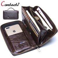 Contact S Brand Clutch Men Business Card Holder Credit Card Handbag Coin Purse Organizer Money Bag