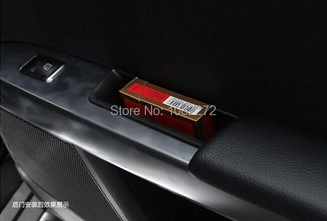 4pcs Door Handle Container Armrest Storage Box <font><b>Phone</b></font> <font><b>Holder</b></font> For <font><b>Mercedes</b></font> Benz C-Class W204 2008-2013