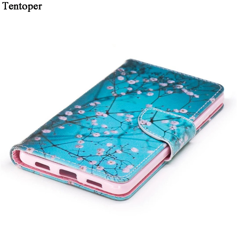 Για Huawei Honor 6x Case Magnetic Flip Wallet Leather Painted Case For Samsung S9 S8 A8 2018 iphone X 8 7 Plus Cover + Card Slots