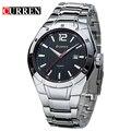 Curren mens relógios top marca de luxo homem relógio de aço cheio de quartzo-relógio calendário data dia relógio de pulso masculino reloj hombre 8103