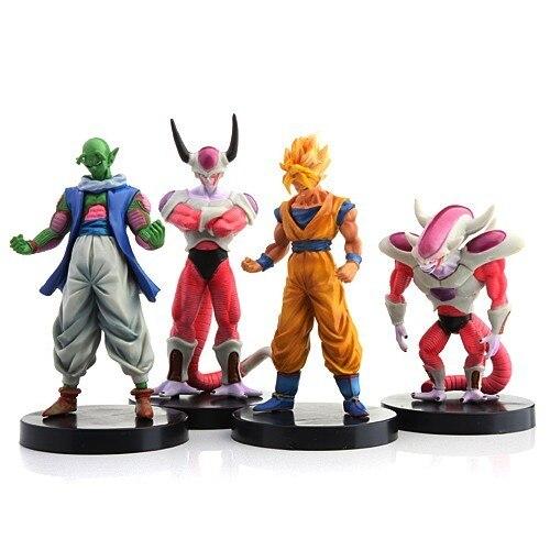 Dragon Ball Figures 4pcs Anime Solid PVC: Bick Goku Flisa(third status) and Flisa(second status)