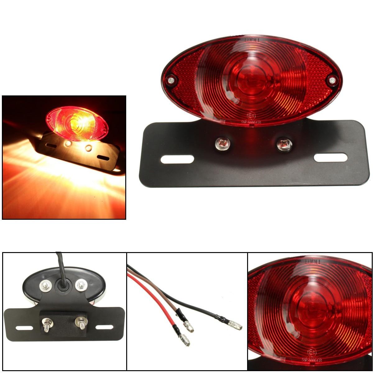 Мотоцикл кошки глаза фонарь с черным кронштейн держатель 5 Вт лампы E8 отмечены утвержден ...