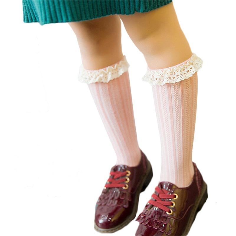 Kids Socks Toddler Knee High Lace Sock Long Girls Cute Leg Warmers Socks For Infantile Baby For Girls Newborn Socks