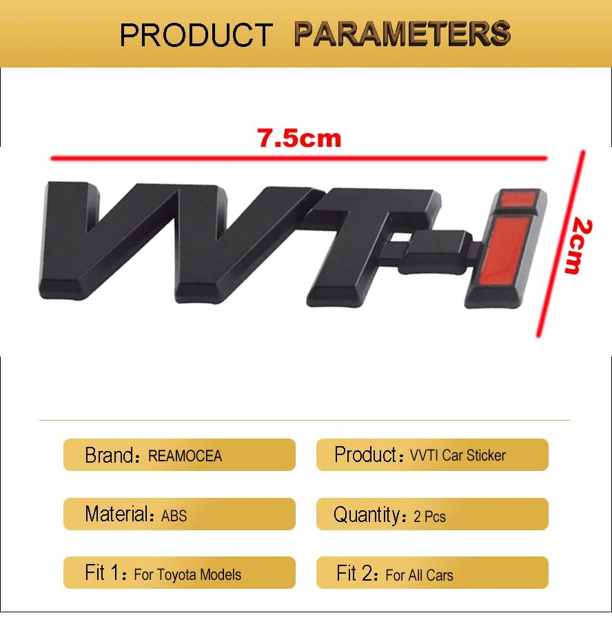 "/""VVT-i/"" Sticker Auto Car 3D Logo Emblem ABS Badge Decal For COROLLA RAV4 CAMRY"