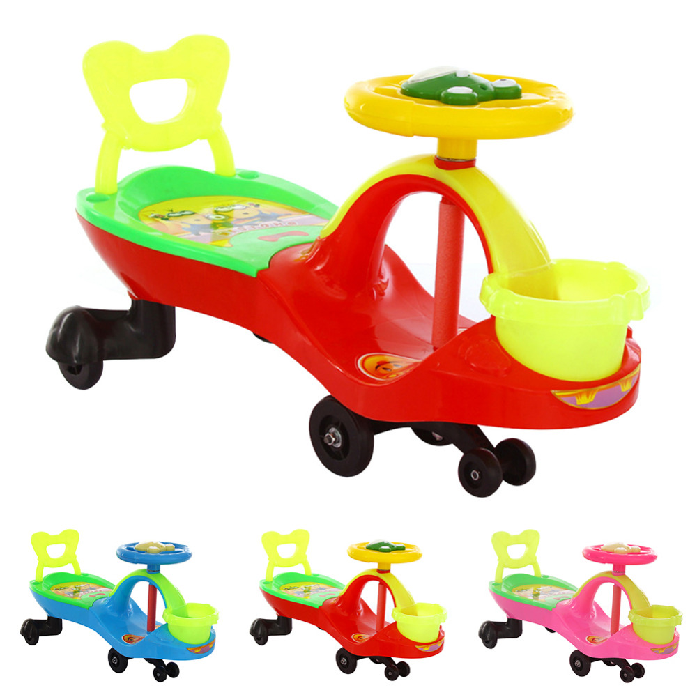 New Kids Scooter Children Swing Car Baby Walker with Canasta + Lazyback + Music Toy Twist Car best Gift to Children Wholesale baby birthday gift balanced car toddler children toy scooter driving walk
