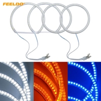 FEELDO 2X115mm 2X131mm Car LED Halo Rings Angel Eyes DRL Head Lamp For BMW E84/X1(2010 2011) Non projector #HQ3971