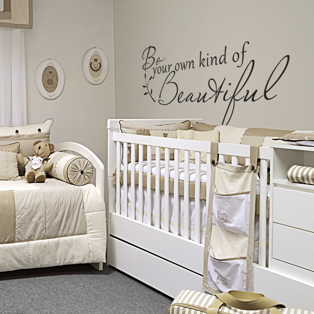 Inspirational wall decal bedroom wall decal bedroom wall vinyl -  Inspirational Quote Wall Sticker Be Your Own Kind Of Beautiful Vinyl Wall Decal For Girls Room