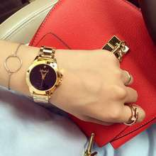 Fashion Luxury Women Dress Wristwatch Ladies Casual Delicate Rhinestone Rose Gold Black Quartz watch Hour Relogio
