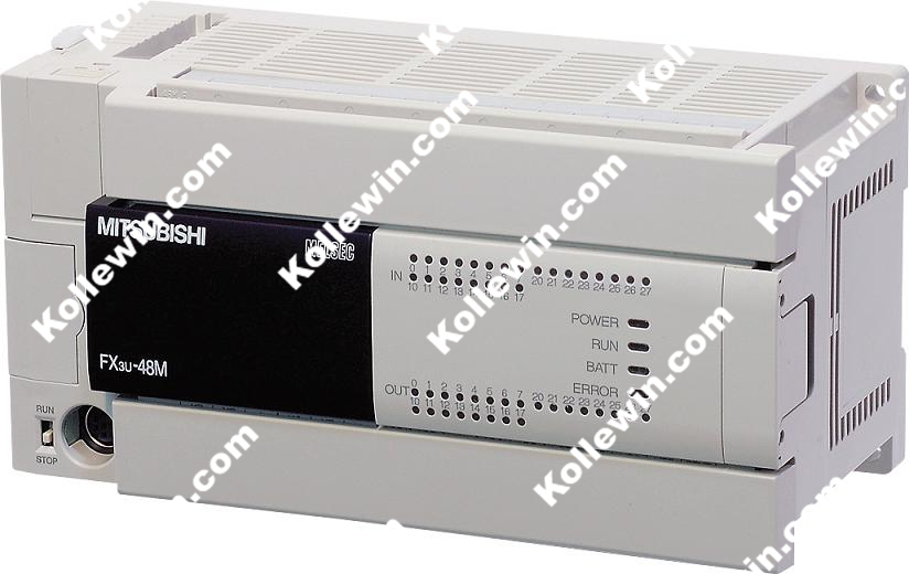 FX3U-48MR/ES-A PLC Module, AC Base Unit 24 DC IN / 24 Relay Output FX3U-48MR/ESA, FX Series FX3U48MR/ESA, FX3U48MRESA NEW in box 7 inch et070 eview hmi touch panel module with programming cable