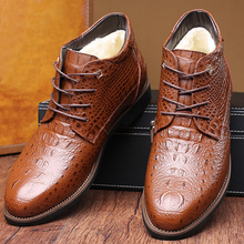 Superstar motorcycle boots genuine leather pointed toe short plush men large size 38-46 spring\autumn shoes