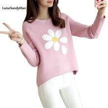 Лидер продаж 2016 года осенне-зимний стиль пуловер вязаный свитер с длинными рукавами Для женщин