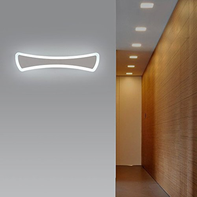 2016 new modern brief aluminum cob led wall light make up for Cabinet salle de bain