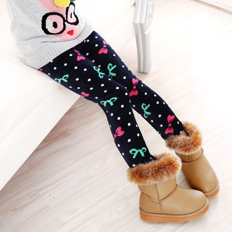 Детские штаны, осенне-зимние леггинсы для малышей, штаны для девочек с разноцветным принтом в виде цветов и бабочек - Цвет: 16
