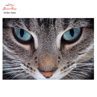 Golden Panno,DIY DMC 11CT 14CT completely Cross stitch Animal cat kits embroidery needlework wall decoration 08