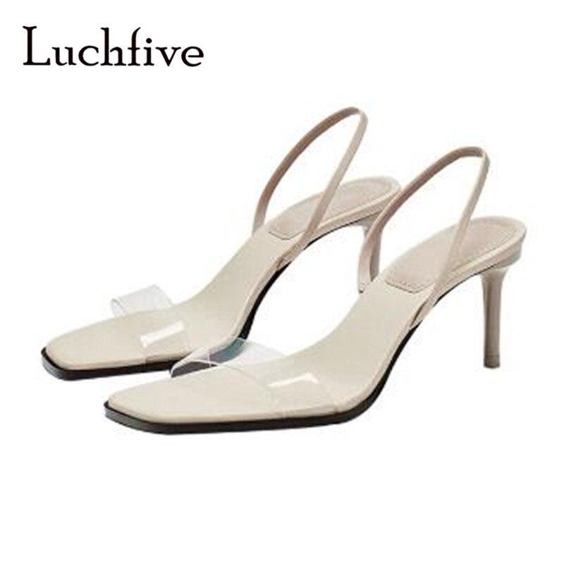 ใสผู้หญิงรองเท้าแตะรองเท้าส้นสูงบางตื้นลื่นบนสันทนาการทนกว่าg ladiatorกริชฤดูร้อนสีเบจs andalias mujer 2018-ใน รองเท้าส้นสูง จาก รองเท้า บน   1