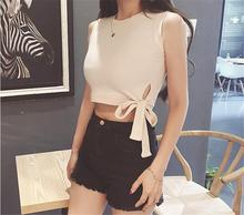 Hunter-wish 2017 New literary summer fog color restoring ancient ways with side tall waist vest color