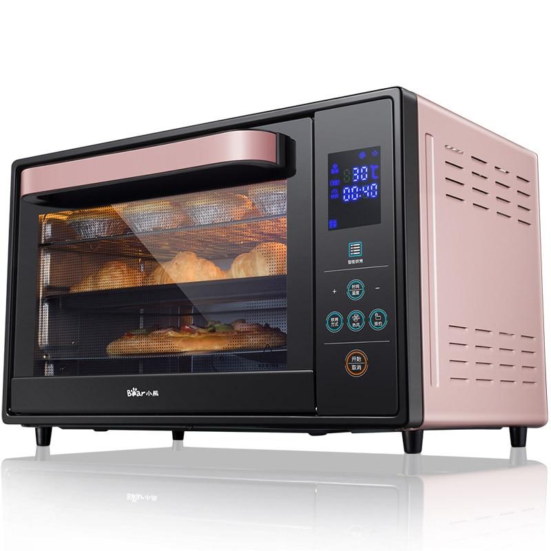 X37 rose 1600 W 30L four électrique 3D circulation d'air chaud fabricants de gâteaux avec 4 éléments chauffants 8 menus écran tactile 25-230 Celsius