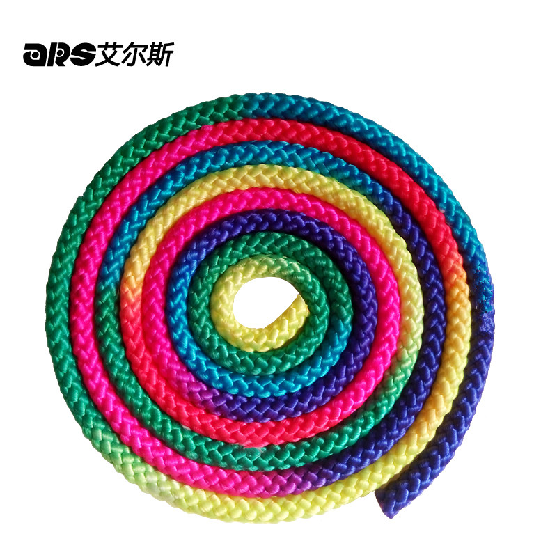 Rainbow Gym Rope Ginastica Color Gradient For Gymnastics Rhythmic Heavy Weight