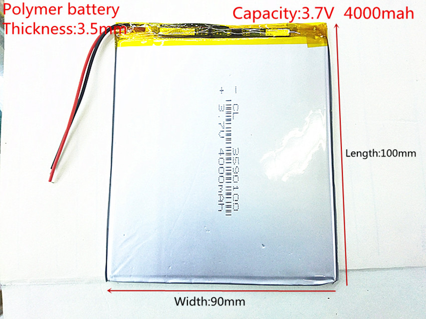 Free shipping 3 7 V 4000 mah tablet battery brand tablet gm lithium polymer battery 3590100