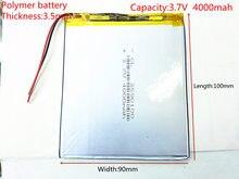 Freies verschiffen 3,7 V 4000 mah tablet batterie marke tablet gm lithium-polymer batterie 3590100