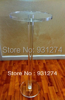 Round Acrylic Pedestal Lucite Plexiglass Flower Phone Stand Acrylic Side Table Acrylic Furniture