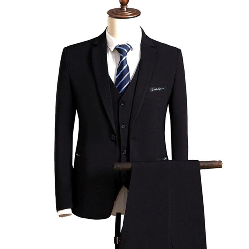 Пиджаки брюки жилет комплект/Мужская мода костюм из 3 предметов жениха Свадебные Мужчины Бизнес Повседневное куртка жилет брюки пиджак