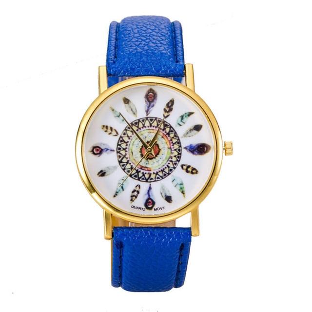 Wavors Hot Sale Women Watch Dream Catcher Printed Dial Clock Analog Quartz Watch