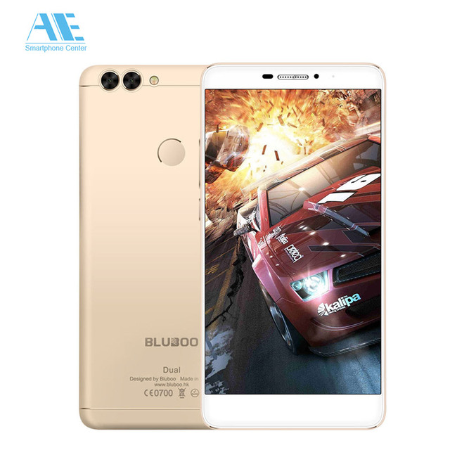 Bluboo Dual MTK6737T Quad Core Android 6.0 Dual Rear Camera Smartphone 2GB RAM 16GB ROM 13MP 5.5Inch 1920x1080p Mobile Phone