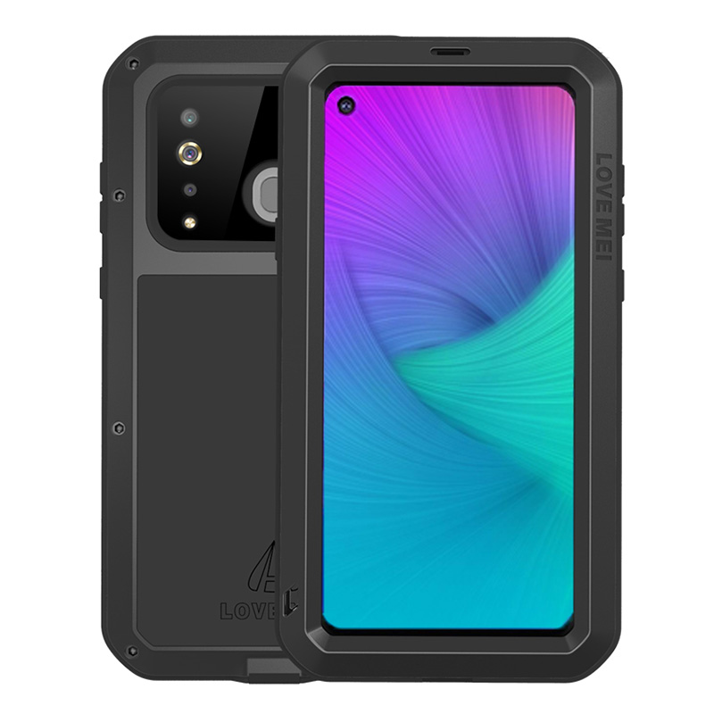 Luxury Full Body Protective For Samsung Galaxy A8S Case Glass Shockproof Metal Armor Cover For Samsung A6 Plus 2018 A8Plus Case