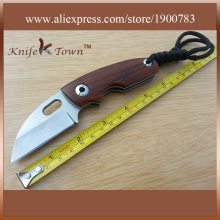 DK071 high hardness knife d2 steel knife rosewood handle camping knife gift fruit hunting knife