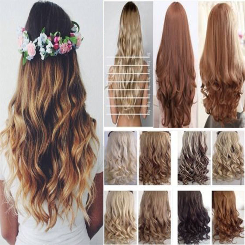 New stylish us seller clip in ombre hair extensions half full head new stylish us seller clip in ombre hair extensions half full head dip dye hair piece 23 curly on aliexpress alibaba group pmusecretfo Gallery