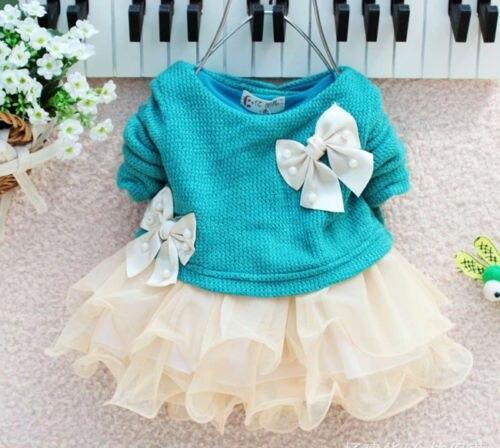 Baby-Girl-dress-Long-Sleeve-Bow-Infants-Newborn-Baby-Clothes-Pink-Princess-Tutu-Dress-2
