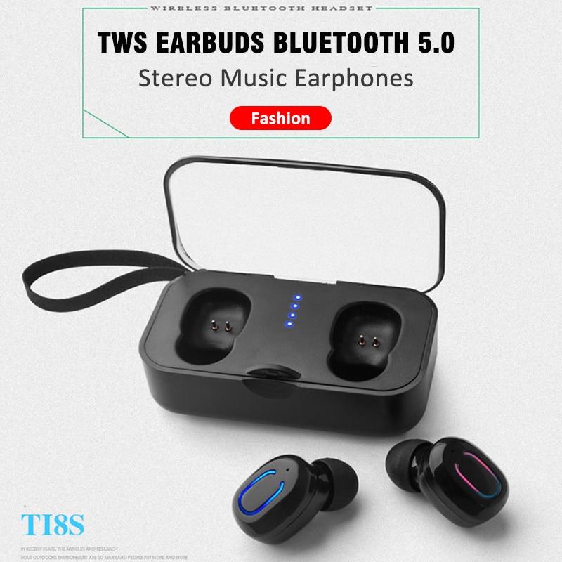 Stereo music Bluetooth earphones headphones TWS wireless earbuds headset with microphone loud HD sound handsfree sport headsetStereo music Bluetooth earphones headphones TWS wireless earbuds headset with microphone loud HD sound handsfree sport headset