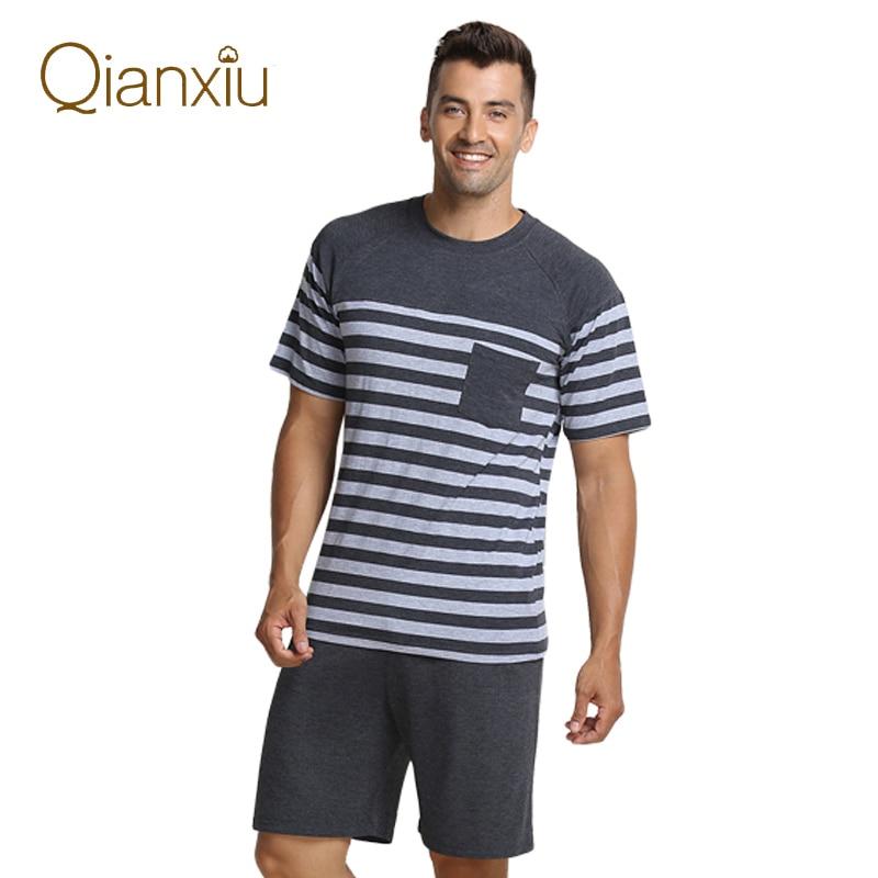 2019 Summer Homewear Men Modal nightwear short sleeved t shirt half pants Male sleeping clothing sets
