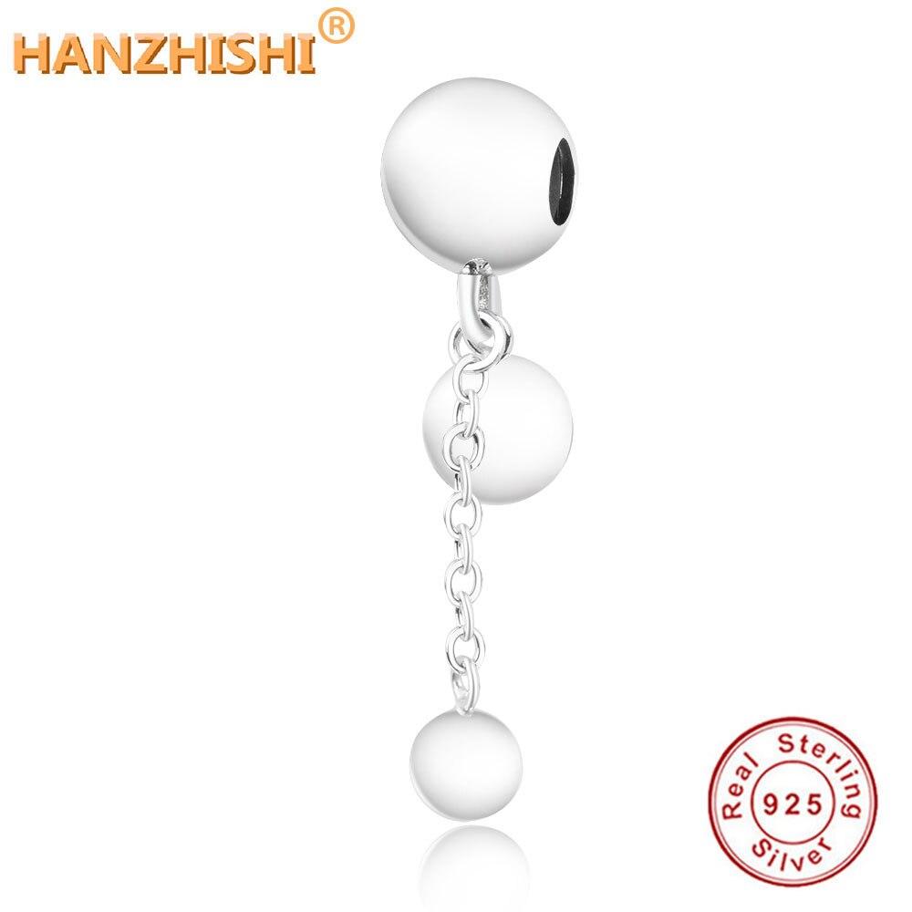 100% 925 prata esterlina cadeia de contas balançar encantos caber pandora charme pulseira jóias diy para mulher joias de prata