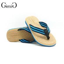 Gienig 2017 new men's slippers flip flops men with the summer sandals Beach grain slippers