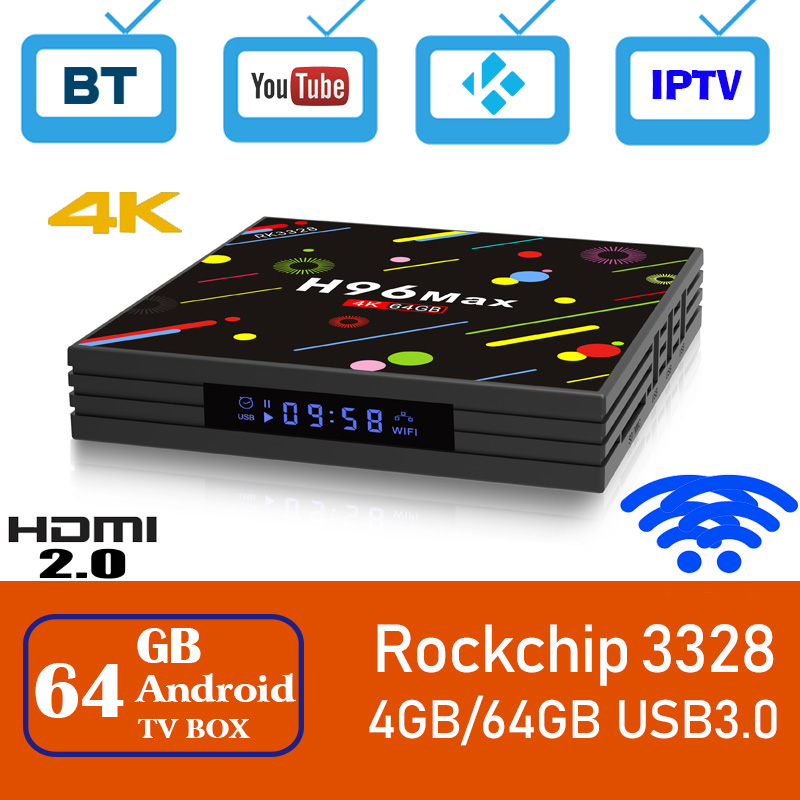 H96 max tv box android 8 1 rk3328 quad core 4 gb 64 gb set top box 2