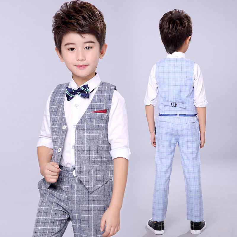 fd1db5d477aa ... Handsome Baby Boys Gentleman Suit Children's Formal Clothing Set Kids  Wedding Party Clothes 3-12Y ...