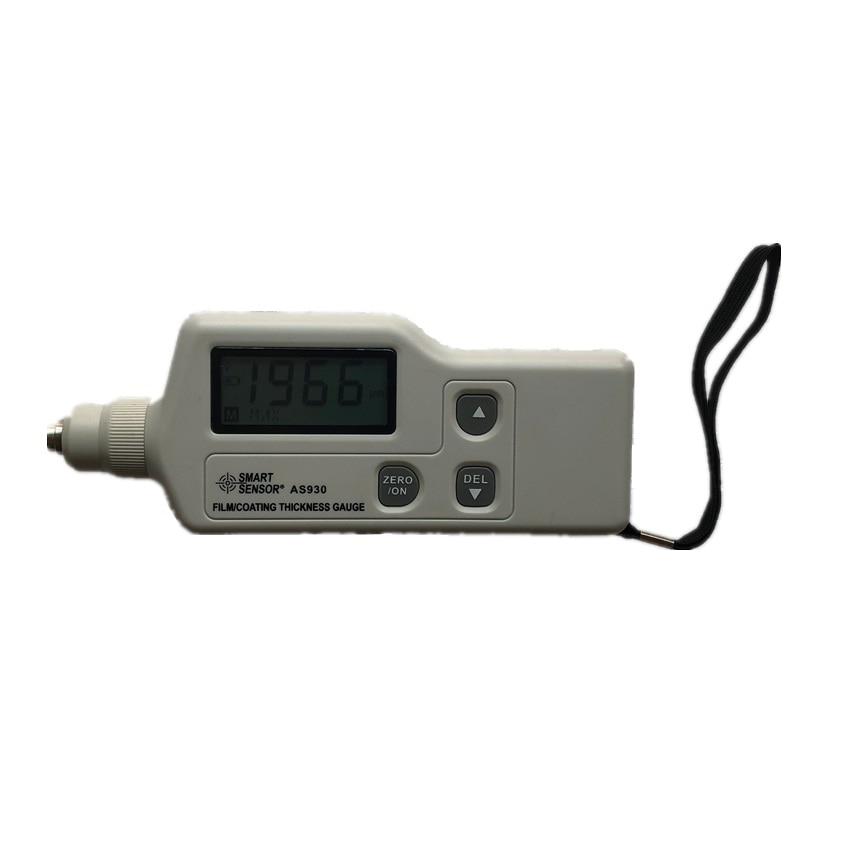AS930 пленка покрытие автомобиля измеритель толщины краски метр автомобиль-детектор диапазон измерения 0-1800um на железной основе Магнитный/ци...