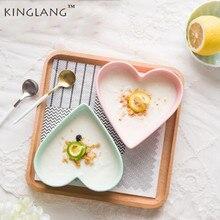 1pc Heart Shape Super High Quality Ceramic Bowl Lovers Dinner Plate Breakfast Bowl