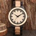 Креативные полностью деревянные часы для мужчин  подарок ручной работы  натуральные деревянные кварцевые бамбуковые минималистичные нару...