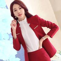 2017 New Fashion Women V neck Blazers Slim Small Leisure Suit Jacket Female Brand Women Blazers 3color